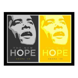 Obama - The New Hope Black & Gold Postcard