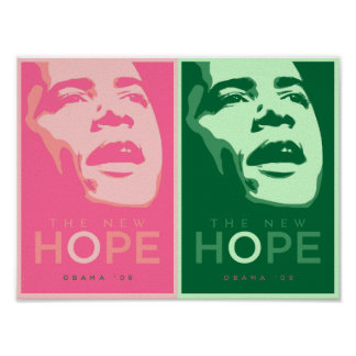 Obama - The New Hope Pink & Green Poster