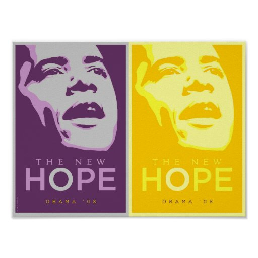 Obama The New Hope Purple & Gold Poster