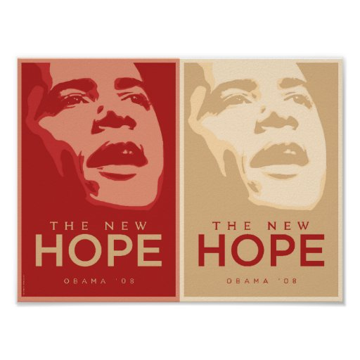 Obama - The New Hope Red & Tan Poster