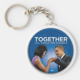 obama togetherness basic round button keychain