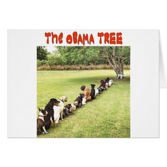 OBAMA TREE CARD