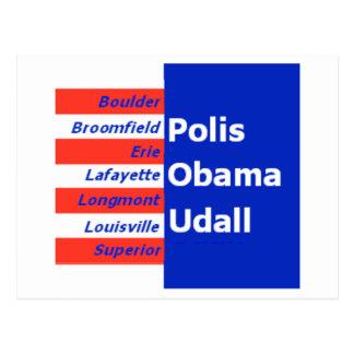 Obama Udall Boulder Postcard