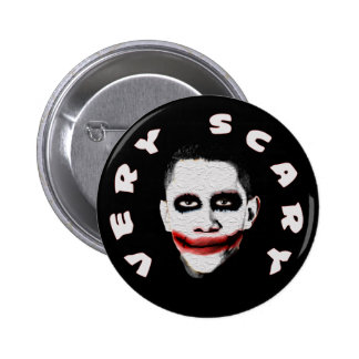 Obama = Very Scary 2 Inch Round Button
