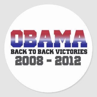 Obama Victory 2008 - 2012 Stickers