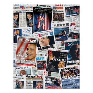 Obama Victory Around the World Poster