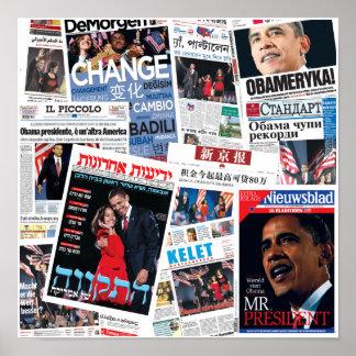 Obama Victory Around the World Poster