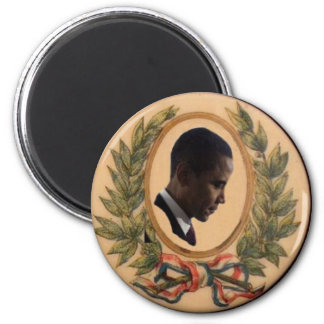 Obama Victory Laurels Button Magnet