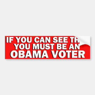 Obama Voter Bumper Sticker