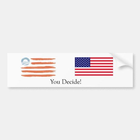 Obama-vs-Romney Flags. You Decide! Bumper Sticker