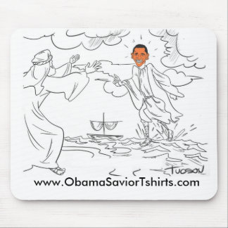 Obama walks on water mouse pad