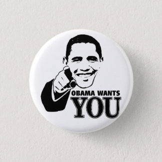 Obama Wants You 1 Inch Round Button