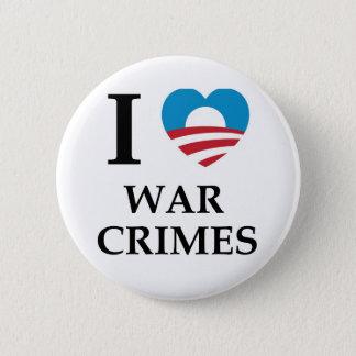 Obama War Crimes 2 Inch Round Button