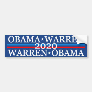 Obama Warren 2016 Bumper Sticker