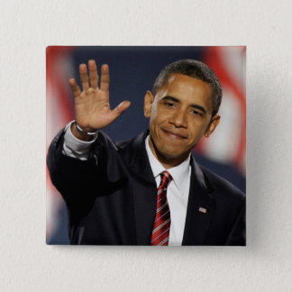 Obama-Wave 2 Inch Square Button