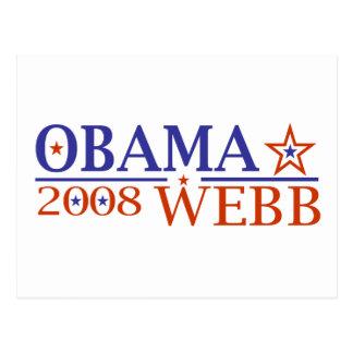 Obama Webb 08 Postcards
