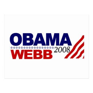 Obama Webb 2008 Postcard