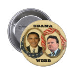Obama/Webb Retro Button