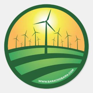 Obama Winds of Change 4x4 Round Sticker