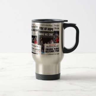 Obama Wins! Historic Newspaper Mug
