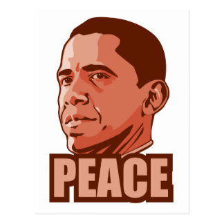 Obama Wins Peace Prize Postcard