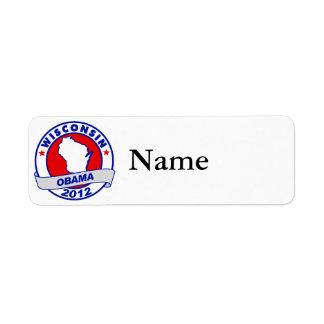 Obama - wisconsin return address label