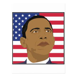 Obama with American Flag Postcard