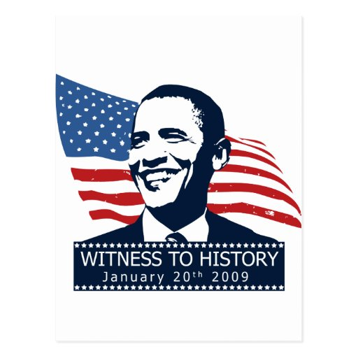 Obama Witness To History Postcards
