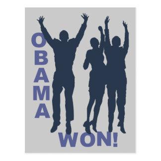 Obama Won Postcard