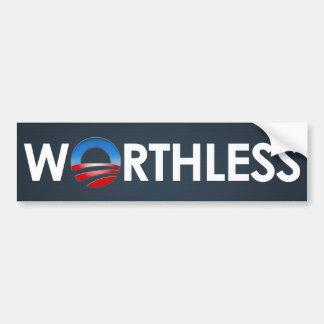 Obama Worthless Bumper Sticker