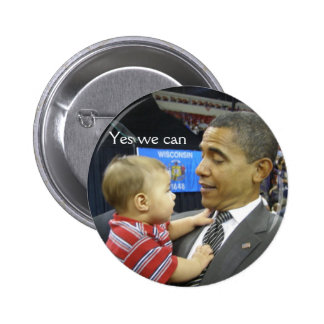 OBAMA Yes we can 2 Inch Round Button