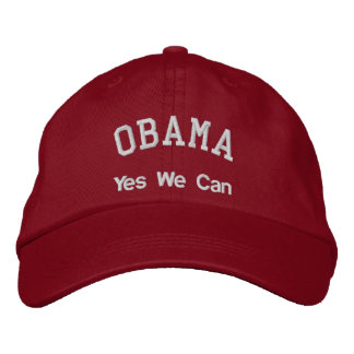 OBAMA, Yes We Can Embroidered Hat