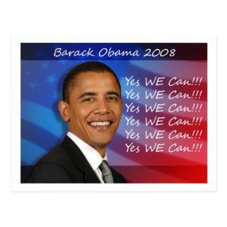 Obama Yes WE Can Postcard