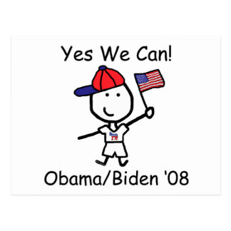 Obama - Yes We Can! Postcard