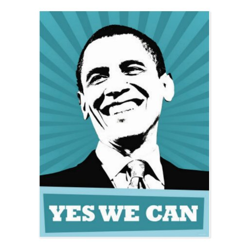 Obama-Yes We Can Postcard