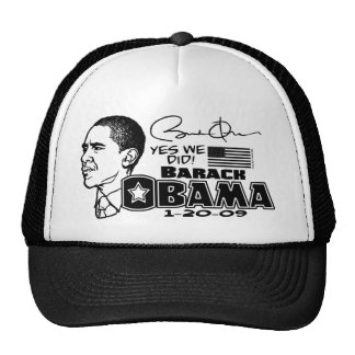 Obama Yes We Did 2009 Gear Trucker Hat