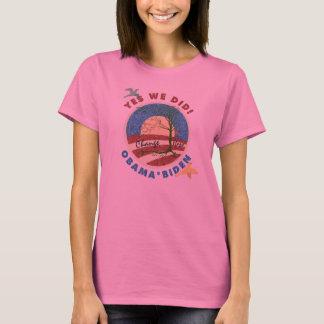 Obama Yes We Did Long Sleeve Womens Shirt