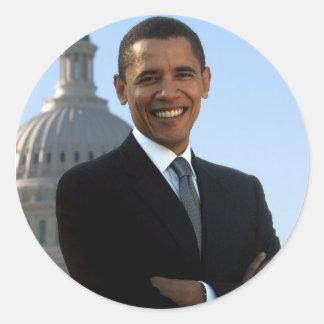 Obama Yes We Did! Round Sticker