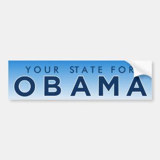 "Obama ""Your State"" Personalized Bumper Sticker"