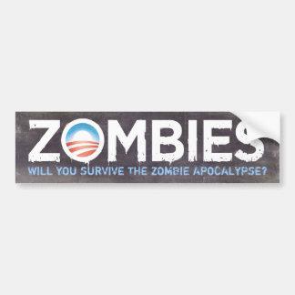 Obama Zombies Bumper Sticker