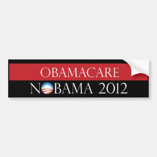 Obamacare Nobama 2012 Bumper Sticker