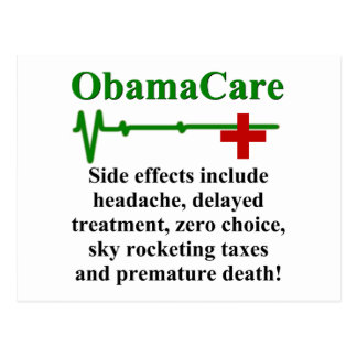 ObamaCare Side Effects Postcard