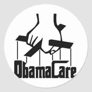 ObamaCare - Strings Attached Round Sticker