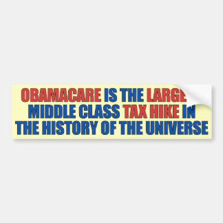 Obamacare tax hike bumper sticker