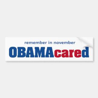 Obamacared Bumper Sticker