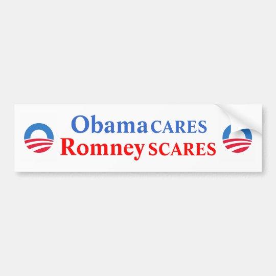 ObamaCARES/RomneySCARES Bumper Sticker