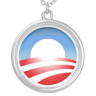 Obamacircle Silver Plated Necklace