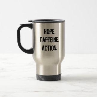OBAMAJAVA, Hope.Caffeine.Action. Travel Mug
