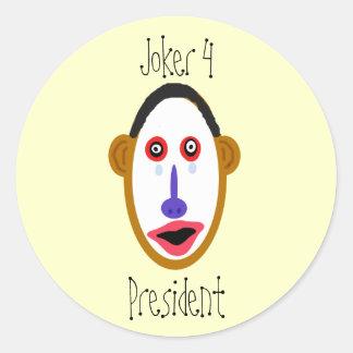 obamajoker, Joker 4, President Classic Round Sticker