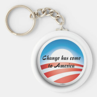 ObamaLogo, Change has come to America Basic Round Button Keychain